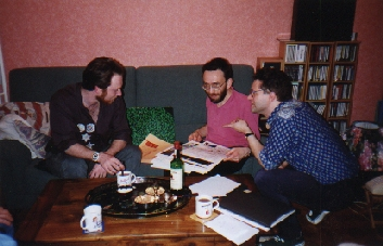 The mighty pen brothers. From left to right : Philippe Cottarel, Jean-Michel Philibert and Patrick Ducher (photo : Pamela Ducher)